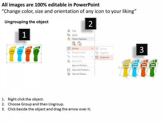 Four_Foot_Prints_With_Smiley_Powerpoint_Template_2