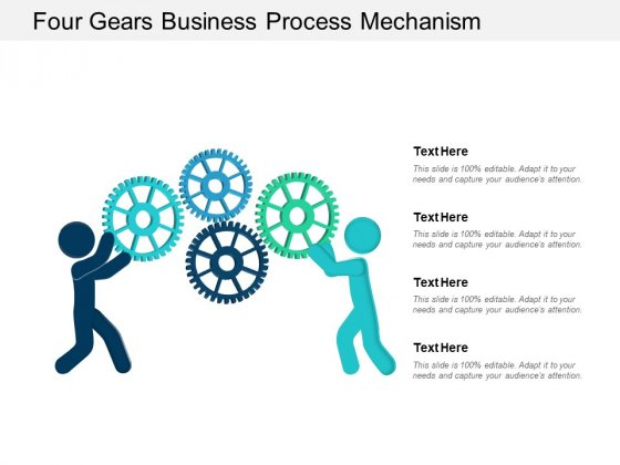 Four Gears Business Process Mechanism Ppt Powerpoint Presentation Model File Formats