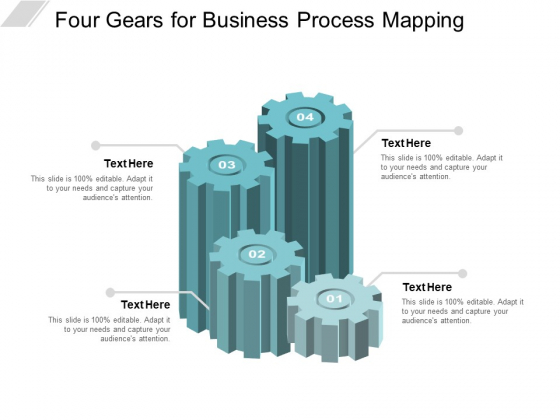 Four Gears For Business Process Mapping Ppt Powerpoint Presentation Icon Layouts