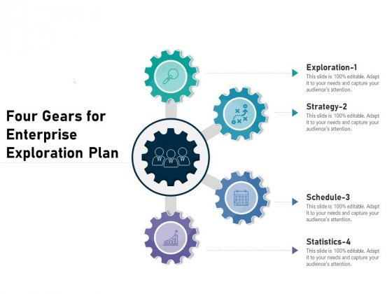 Four Gears For Enterprise Exploration Plan Ppt PowerPoint Presentation Pictures Introduction PDF