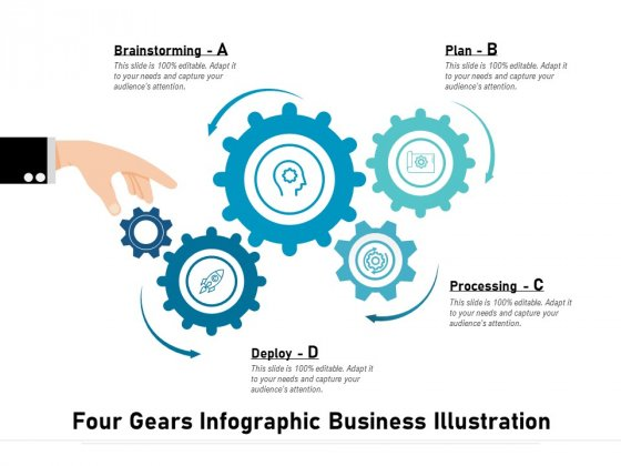 Four Gears Infographic Business Illustration Ppt PowerPoint Presentation Layouts Examples PDF