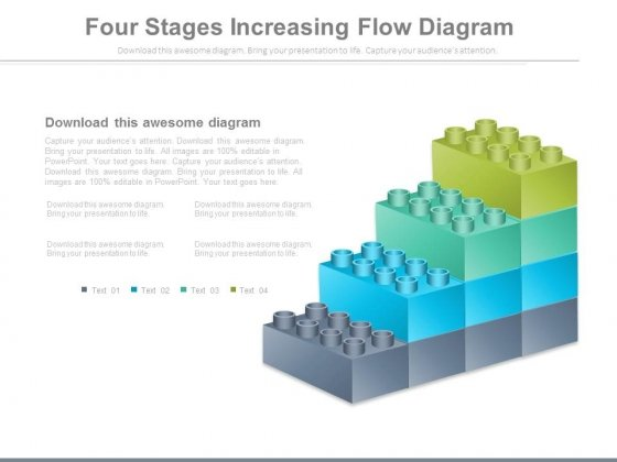 Four Growth Steps Lego Blocks Design Powerpoint Slides