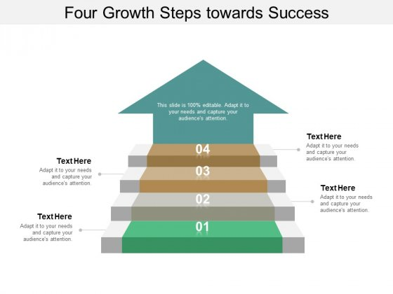 Four Growth Steps Towards Success Ppt PowerPoint Presentation Inspiration Layouts