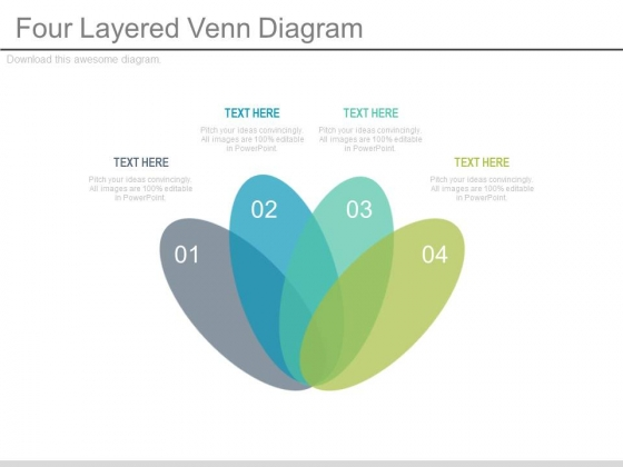 Four Layered Venn Design For Business Powerpoint Slides