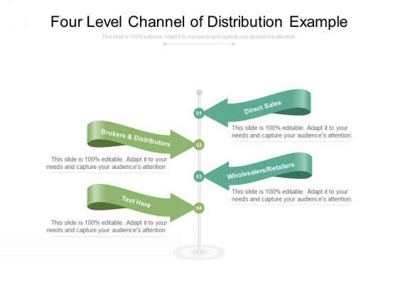 Four Level Channel Of Distribution Example Ppt PowerPoint Presentation Infographics Gridlines PDF