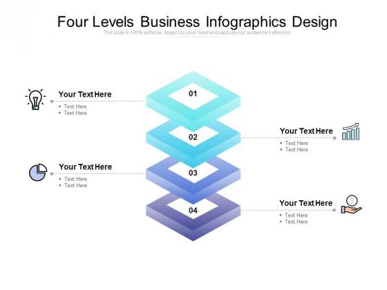 Four Levels Business Infographics Design Ppt PowerPoint Presentation File Graphics Tutorials