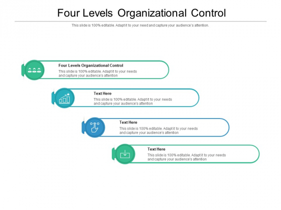 Four Levels Organizational Control Ppt PowerPoint Presentation Gallery Design Ideas Cpb