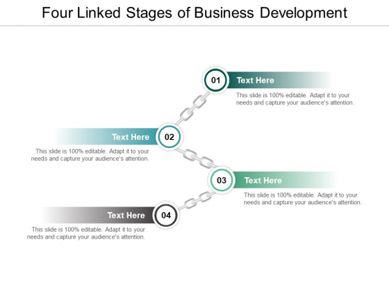 Four Linked Stages Of Business Development Ppt PowerPoint Presentation Ideas Rules