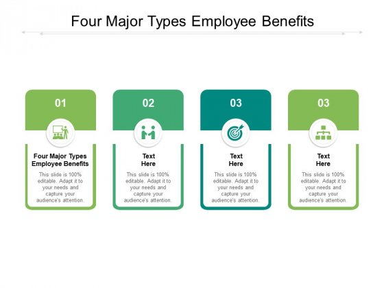 Four Major Types Employee Benefits Ppt PowerPoint Presentation Pictures Themes Cpb