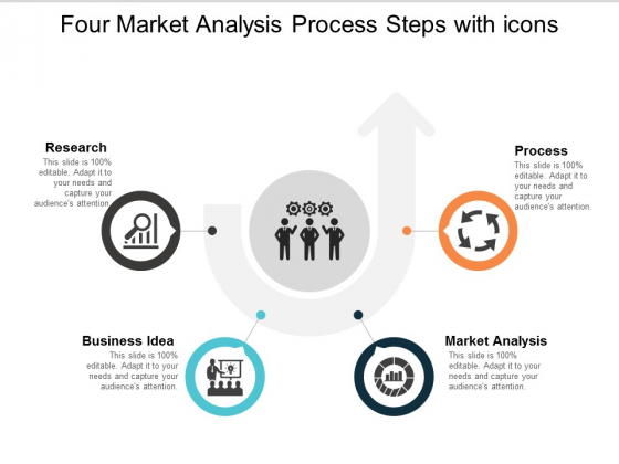 Four Market Analysis Process Steps With Icons Ppt Powerpoint Presentation Outline Gallery