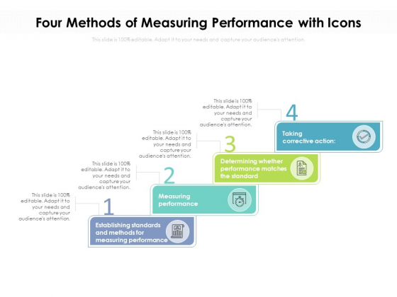 Four Methods Of Measuring Performance With Icons Ppt PowerPoint Presentation Gallery File Formats PDF