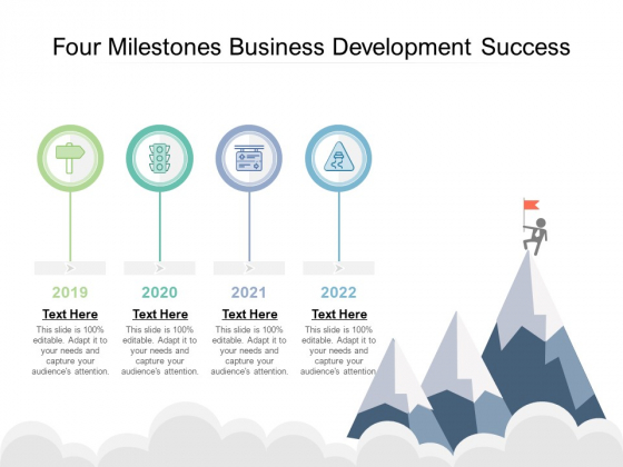 Four Milestones Business Development Success Ppt PowerPoint Presentation Graphics