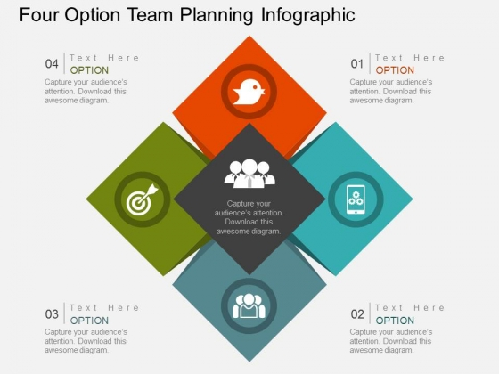 Four Option Team Planning Infographic Powerpoint Template