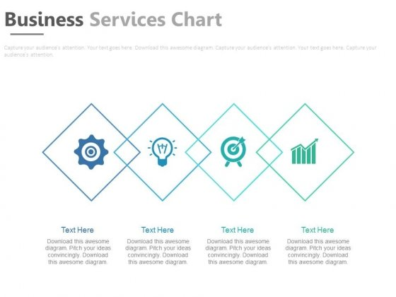 Four Overlapping Steps With Icons Powerpoint Template