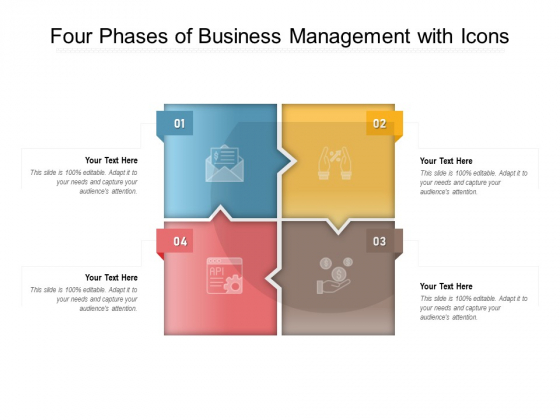 Four Phases Of Business Management With Icons Ppt PowerPoint Presentation File Background Images