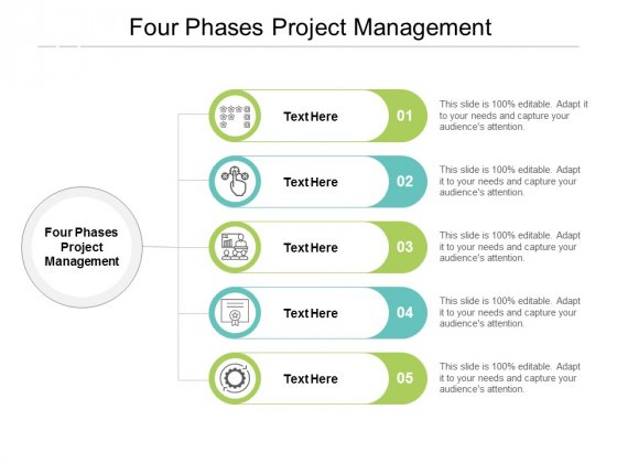 Four Phases Project Management Ppt PowerPoint Presentation Slides Smartart Cpb