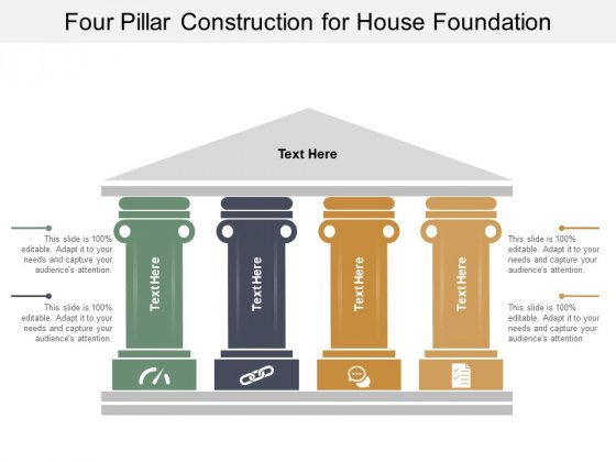 Four Pillar Construction For House Foundation Ppt PowerPoint Presentation Outline Graphics Download