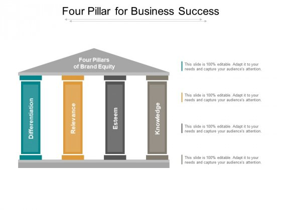 Four Pillar For Business Success Ppt Powerpoint Presentation Styles Layout Ideas