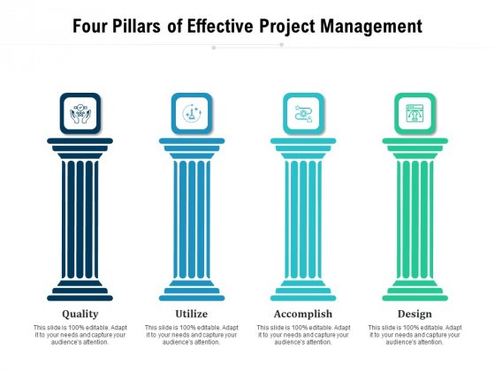 Four Pillars Of Effective Project Management Ppt PowerPoint Presentation Styles Mockup PDF