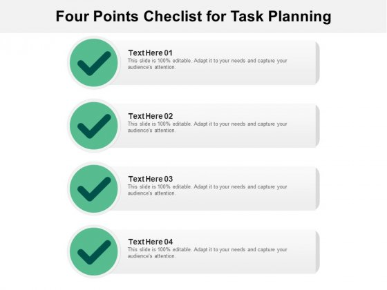 Four Points Checlist For Task Planning Ppt Powerpoint Presentation Outline Slide Portrait