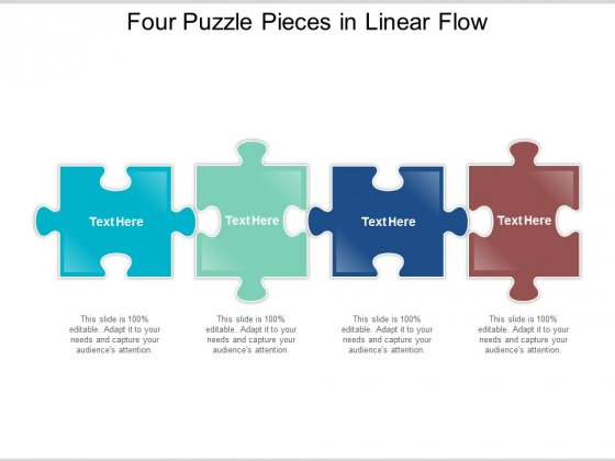 Four Puzzle Pieces In Linear Flow Ppt Powerpoint Presentation Summary Background
