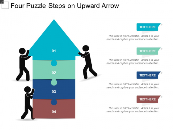 Four Puzzle Steps On Upward Arrow Ppt PowerPoint Presentation Pictures Outline
