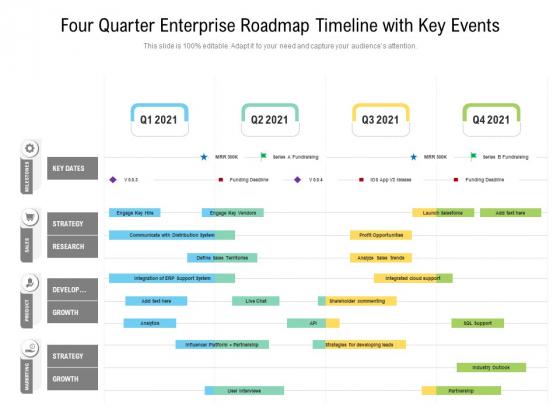 Four_Quarter_Enterprise_Roadmap_Timeline_With_Key_Events_Inspiration_Slide_1
