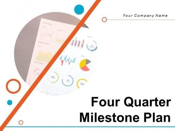 Four Quarter Milestone Plan Ppt PowerPoint Presentation Complete Deck With Slides