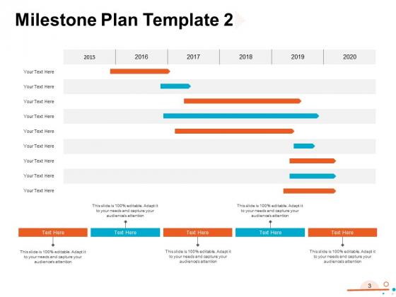 Four_Quarter_Milestone_Plan_Ppt_PowerPoint_Presentation_Complete_Deck_With_Slides_Slide_3