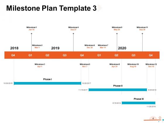 Four_Quarter_Milestone_Plan_Ppt_PowerPoint_Presentation_Complete_Deck_With_Slides_Slide_4