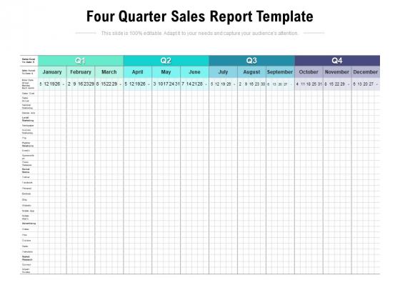 Four_Quarter_Sales_Report_Template_Ppt_PowerPoint_Presentation_Model_Smartart_Slide_1
