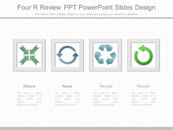 Four R Review Ppt Powerpoint Slides Design