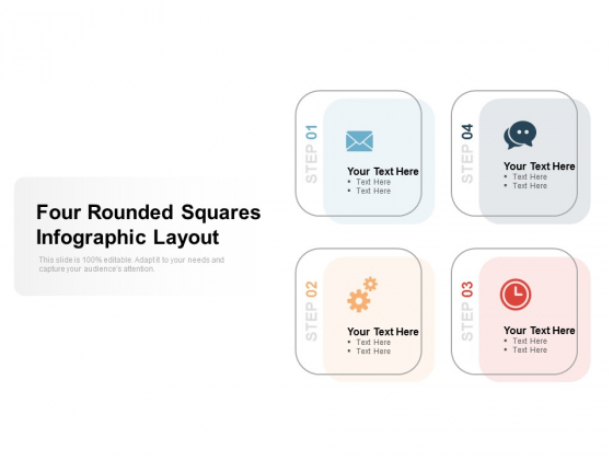 Four Rounded Squares Infographic Layout Ppt PowerPoint Presentation Infographic Template Themes