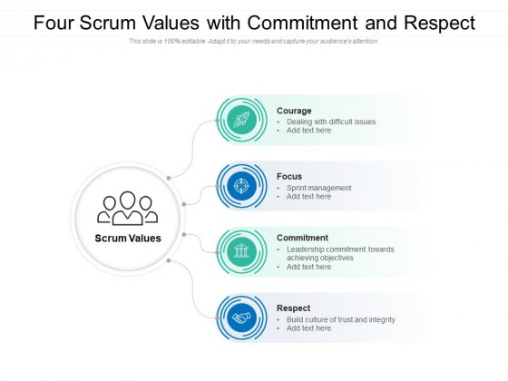 Four_Scrum_Values_With_Commitment_And_Respect_Ppt_PowerPoint_Presentation_File_Formats_PDF_Slide_1