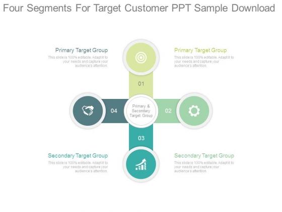 Four Segments For Target Customer Ppt Sample Download