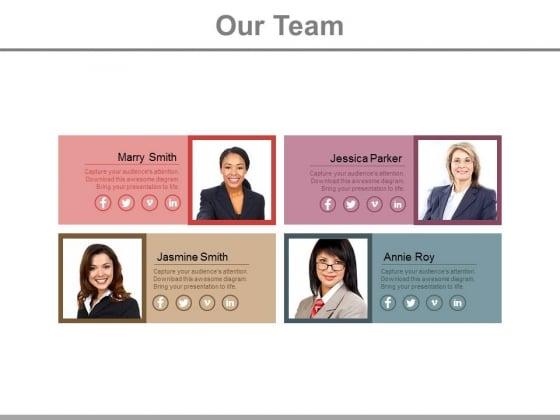 Four Senior Members Of Business Team Powerpoint Slides