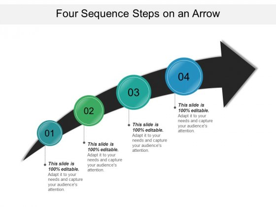 Four Sequence Steps On An Arrow Ppt PowerPoint Presentation Inspiration Layout