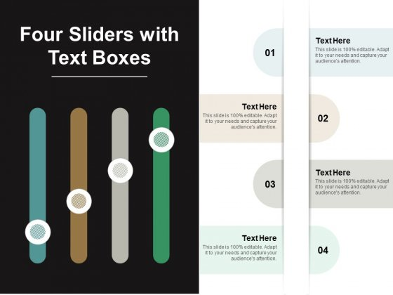Four Sliders With Text Boxes Ppt PowerPoint Presentation Layouts Shapes