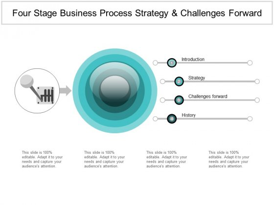 Four Stage Business Process Strategy And Challenges Forward Ppt PowerPoint Presentation Summary Structure