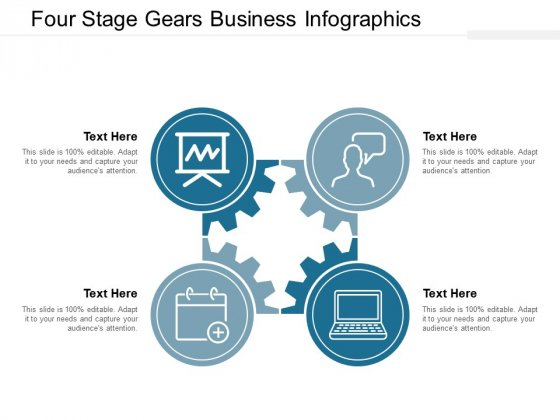 Four Stage Gears Business Infographics Ppt Powerpoint Presentation Professional Gallery