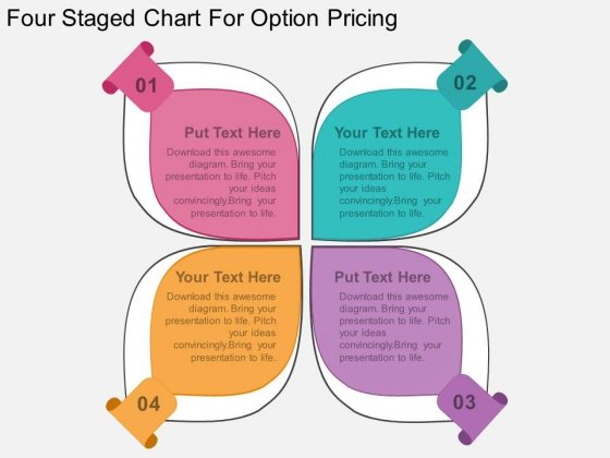 Four Staged Chart For Option Pricing Powerpoint Template