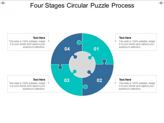 Four Stages Circular Puzzle Process Ppt PowerPoint Presentation Show Layout