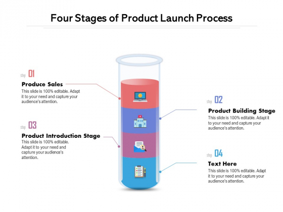 Four Stages Of Product Launch Process Ppt PowerPoint Presentation Pictures Gridlines PDF