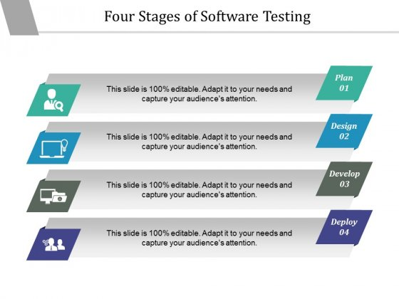 Four Stages Of Software Testing Ppt PowerPoint Presentation Pictures Graphics