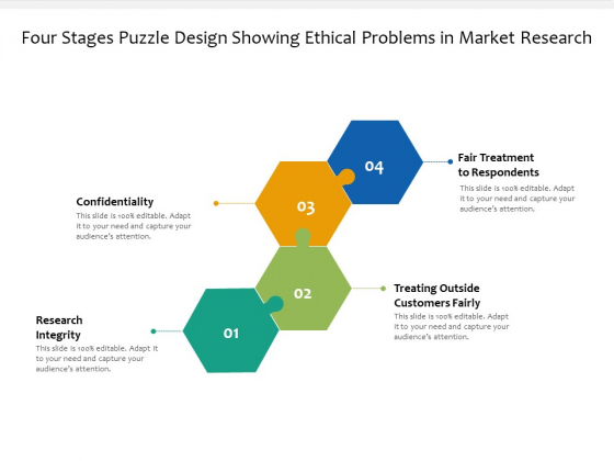 Four Stages Puzzle Design Showing Ethical Problems In Market Research Ppt Powerpoint Presentation Infographic Template Design Inspiration Pdf