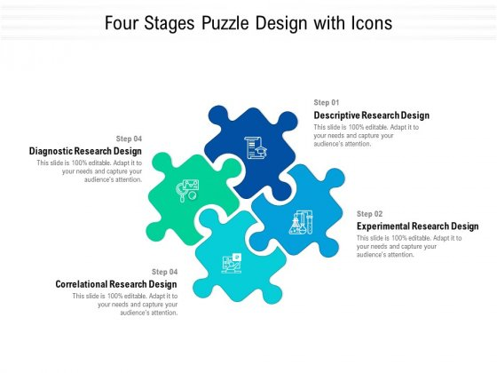 Four Stages Puzzle Design With Icons Ppt Powerpoint Presentation Outline Samples Pdf