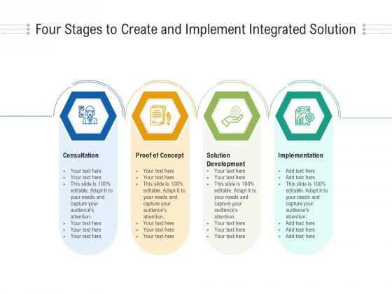 Four Stages To Create And Implement Integrated Solution Ppt PowerPoint Presentation Gallery Portfolio PDF