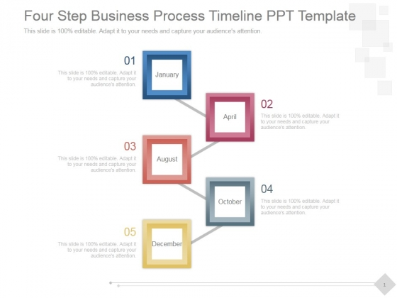Four Step Business Process Timeline Ppt PowerPoint Presentation Show