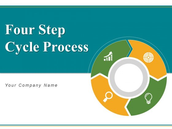 Four Step Cycle Process Arrows Squares Ppt PowerPoint Presentation Complete Deck