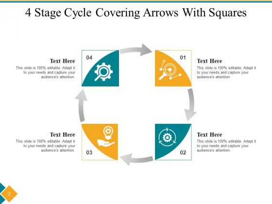 Four_Step_Cycle_Process_Arrows_Squares_Ppt_PowerPoint_Presentation_Complete_Deck_Slide_2